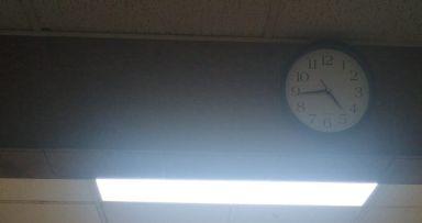 לקראת תשרי: תאורה חדשה בקומת המרתף