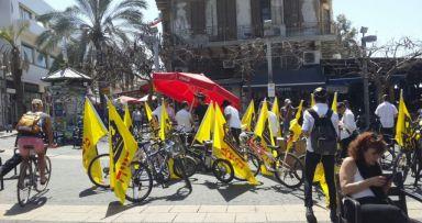 אופני הגאולה כבשו את תל אביב